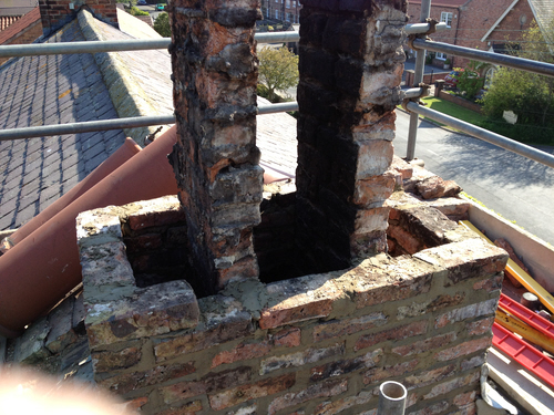 Dougies Chimney Sweep Rebuilding Chimney Stack